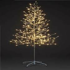 pre lit christmas tree chagne twig