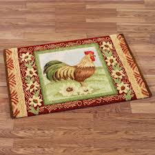 kitchen floor rugs. Exciting Chicken Kitchen Rugs For Your Floor Decor: Memory Foam Rooster