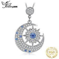<b>Jewelrypalace</b> Blue Sapphire 1ct Cubic Zirconia Crescent <b>Moon</b> ...