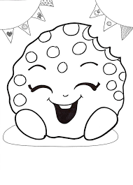 Shopkins Coloring Pages Printable For Girls Kooky Cookie 3295 Get