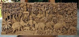indian carved wooden wall art wood hand sculpture ca