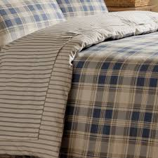 sets cosy warm duvet set tartan navy tartan navy