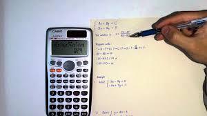 calculator program for simultaneous equations