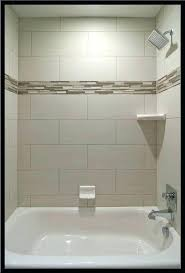 how to tile a bathtub wall bathtub wall tile bathroom with bathtub and gray subway tile