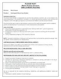 Direct Care Worker Cover Letter Sample Resume Child Care Worker Penza Poisk