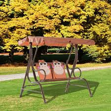 swing chair 2 seater garden canopy cartoon monkey rocking seat children play