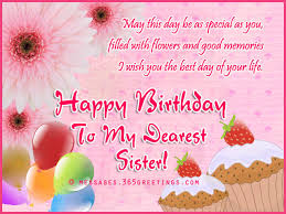 birthday wishes for sister that warm