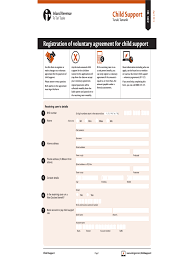 Voluntary Child Support Agreement Form - 2 Free Templates in PDF ... Registration of Voluntary Agreement for Child Support Form