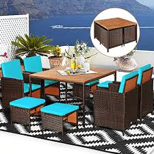 happygrill 9pcs patio dining set