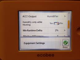 how to wire a humidifier to an ecobee smart thermostat this setting lets your ecobee run the humidifier during heat cool or the