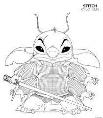 Don't want to download and print each coloring page one at a time? Kylo Ren Stitch Disney Star Wars Coloring Pages Printable