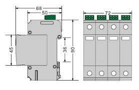 surge protection device iimp ka surge protector imax ka dimension and circuit diagram of surge protection device fvb12 5b c 4 xxx s