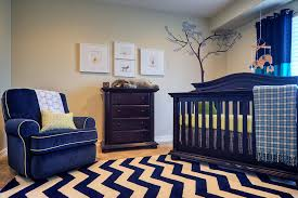 blue chevron area rug nursery