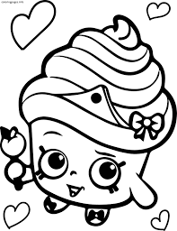 Coloring Page Shopkins Coloring Pages Cupcake Queen Shopkins