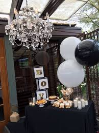 boy baby shower gold black and white themed red decorations prince centerpieces