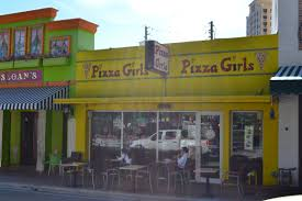 For a quick bite pizza girls offers indoor and outdoor dining on the west palm