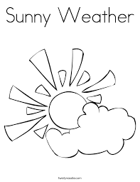Small Picture Sunny Weather Coloring Page Twisty Noodle