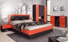 Спален комплект виктория е моделът който ще допринесе за царственото усещане във вашия дом. Spalen Komplekt Sezoni Bez Vkl Matrak Sezoni Cherven Cheren Glanc Mebeli Videnov