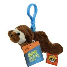 adventure planet plush mighty clips sloth plastic key clip 3 5 in bbtoy toys plush trading cards action figures games rel