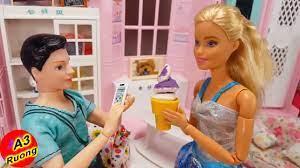 bup be ba lisa bị lừa ăn kem và cái kết là bị nổi ghẻ trên mặt /Barbie  Story & Crafts/ hoạt hình vui - YouTube