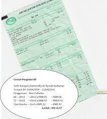 Pengiraan Bil Air Air Kelantan Sdn Bhd Aksb