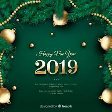 New Year Backgrounds Realistic New Year 2019 Background Vector Free Download