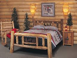 Pine Log Bedroom Furniture Cedar Log Bed Kits Rustic Furniture Mall By Timber Creek
