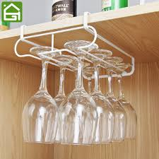 Metal wine glass rack Under Cabinet Cupboard Hanging Organizer Shelves Kitchen Under Cabinet Glass Holder Kitchen Wine Glass Draining White Metal Shelf Hook Wantitall Cupboard Hanging Organizer Shelves Kitchen Under Cabinet Glass