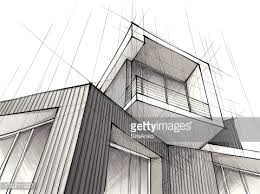 architecture building drawing. A Architecture Drawing Of Building With White Background Vector Art Getty Images