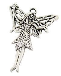 details about large antique silver fairy charm pendants jewellery making job lots uk