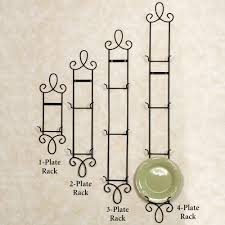 Wrought Iron Plate Holders For The Wall