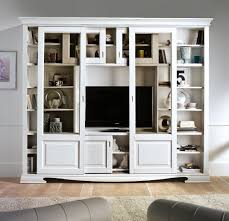 Living Room Glass Cabinets Bookshelf Provence Style With Glass Doors Wooden Furniture Glass