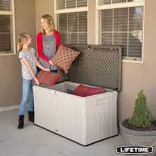 lifetime 439 litre outdoor storage deck