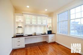 Traditional White Painted Maple Built-In Desk, Northville Michigan