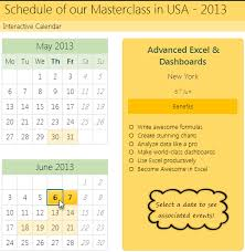 Make Calendar In Excel How To Create Interactive Calendar To Highlight Events