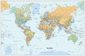 classic world wall map