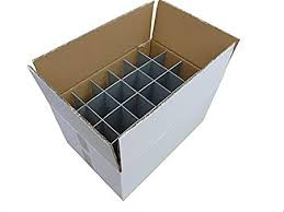 wine glass storage box. Wine Glass Storage Box Pack Of Glassware Crate Strong Double Walled Inside