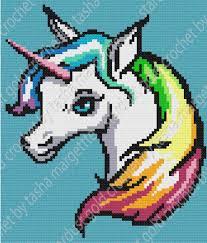 Unicorn Rainbow C2c Written Graph Pattern Whew My First