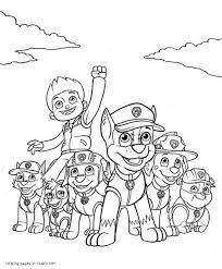 Paw Patrol Coloring Pages Printable 30 Print Color Craft