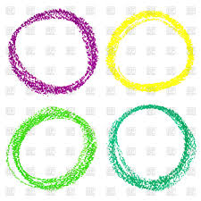 Crayon Rings Brushstroke Circle Crayon Rings Vector Image 45269 Rfclipart