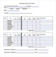 Biweekly Time Card Template Bi Weekly Employee Timesheet Template Magdalene Project Org