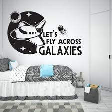 lets fly across galaxies space wall