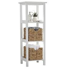 bed bath and beyond shelving unit wooden slatted shelves awesome 3 shelf wood slatted tower bedbathandbeyond