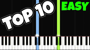 top 10 easy piano songs for the