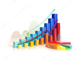 Growing Bar Graphs And Pie Chart Stock Photo Blackonix1