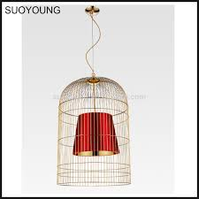 China Metal Bird Cage Chandelier Pendant Lighting Md7074 1m