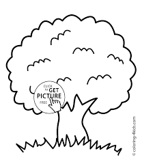 Liberal Coloring Pages Of Tree Page Nature For Kids Printable Free