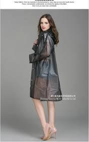 <b>2019 Fashion Plastic</b> Rain Cover <b>Women</b> Men EVA Transparent ...