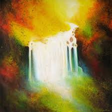 watercolor painting of water falling image