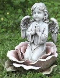 angel garden statue. angel in rose garden statue - 11\u201ch [rm64555] r